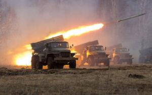 Nagorno-Karabakh conflict - BM21 Grad